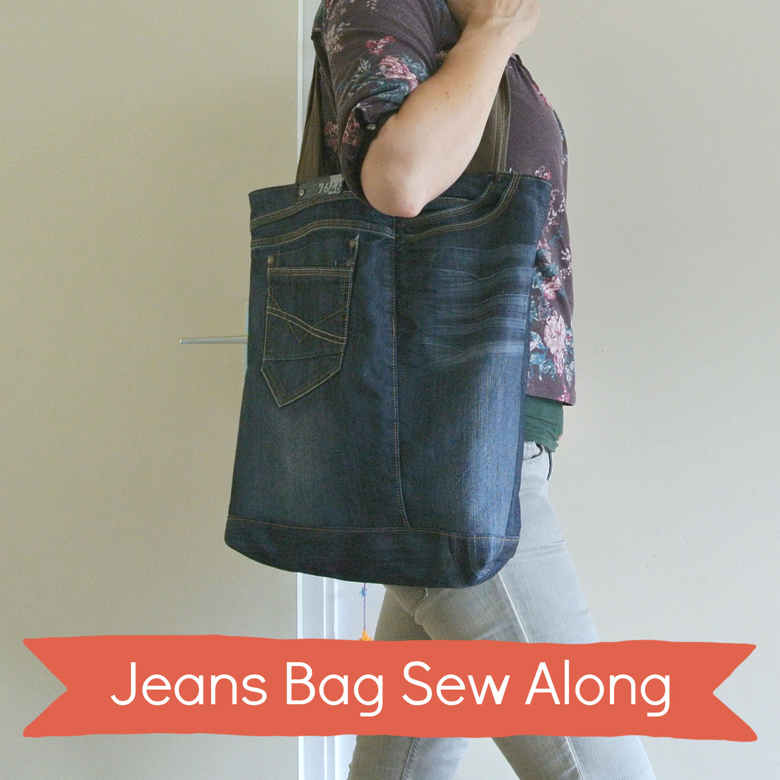 jeans tote sew along