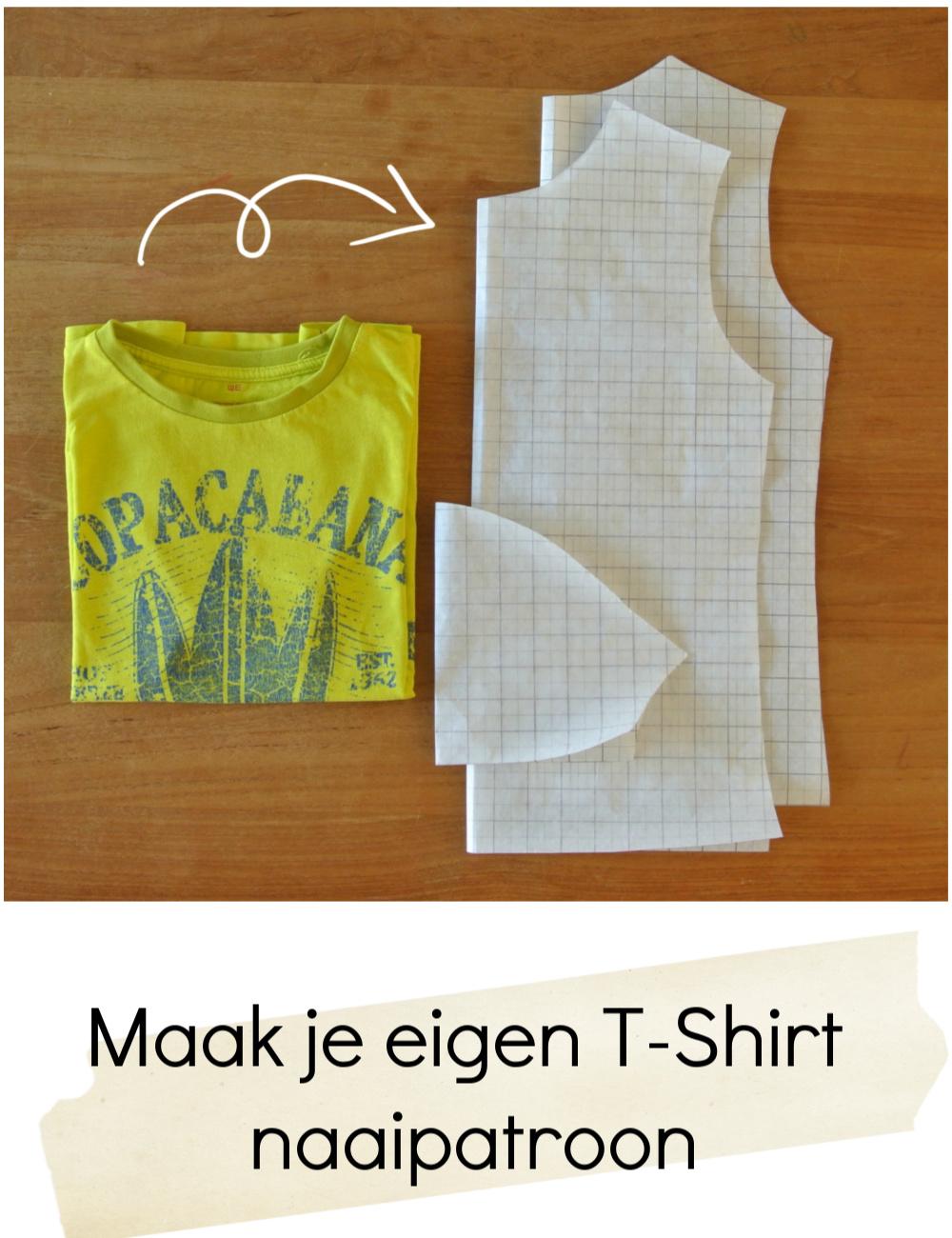 Tutorial t-shirt naaipatroon