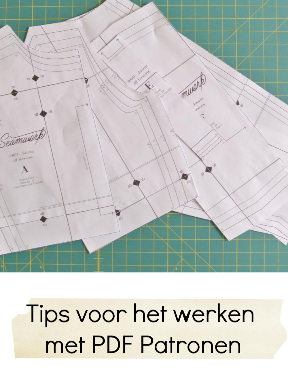 Tutorial tips voor werken met pdf patronen