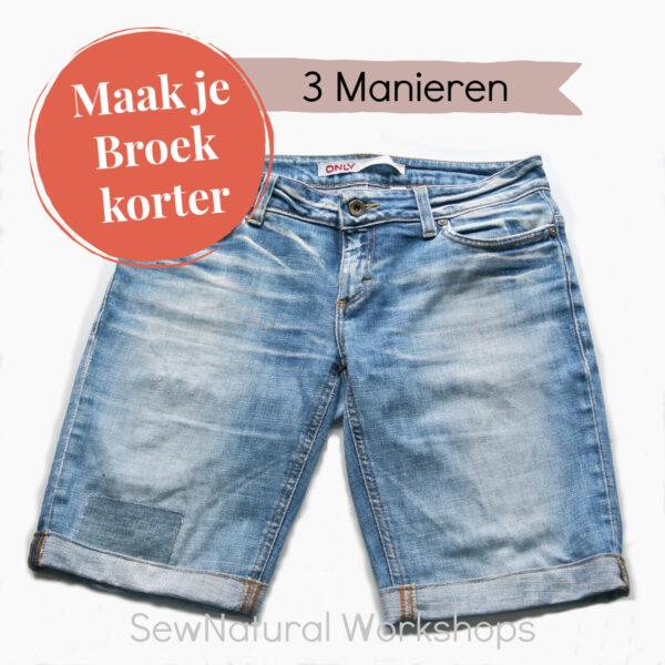 Maak je broek korter op drie manieren