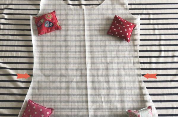 strepen t-shirt netjes laten aansluiten