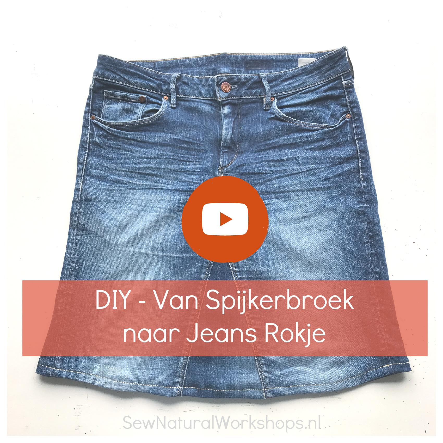 jeans rok filmpje
